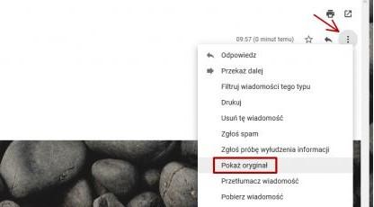 Где проверить заголовок сообщений в Gmail?
