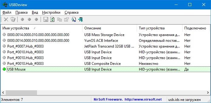 программа USBDeview